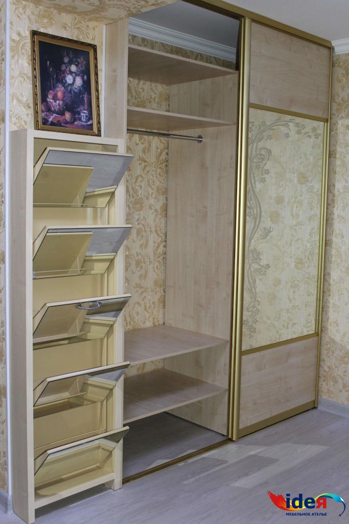 Встроенный шкаф-купе + обувница в прихожую - мебельное атель.